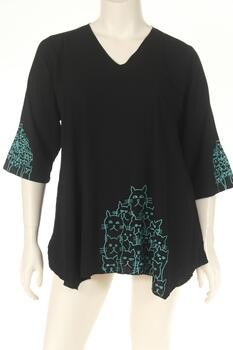DN1745cats Bluse