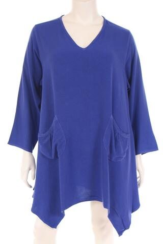 AS1790 Tunique V neck W bottom long sleeve plain