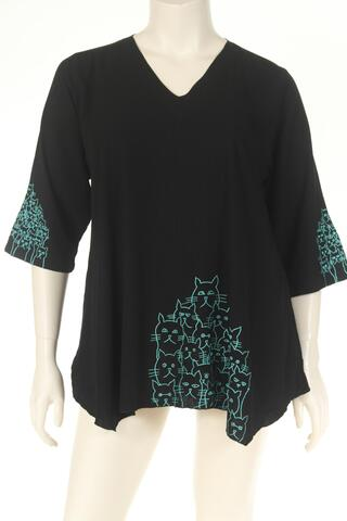 DN1745cats Blouse