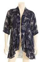 JG3424T Jacket 3/4 sleeve chiffon print or plain viscose